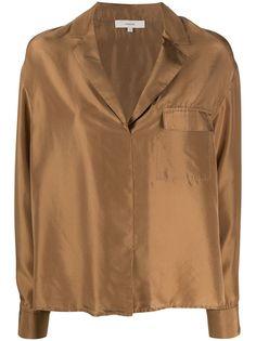 Vince расклешенная блузка с длинными рукавами
