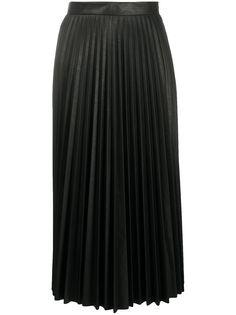 MM6 Maison Margiela плиссированная юбка миди