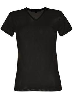 Gucci полупрозрачная футболка с V-образным вырезом