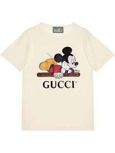 Gucci футболка оверсайз с принтом Mickey из коллаборации с Disney