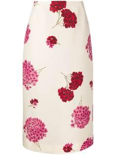 La Doublej юбка-карандаш с цветочным принтом