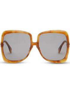 Fendi солнцезащитные очки Promeneye в массивной оправе
