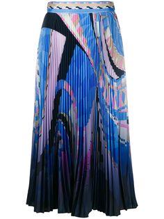 Emilio Pucci плиссированная юбка с абстрактным принтом