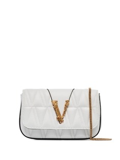 Versace стеганая сумка на плечо Virtus