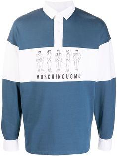Moschino рубашка поло с принтом Characters