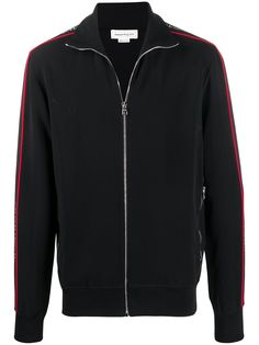 Alexander McQueen куртка на молнии с аппликацией