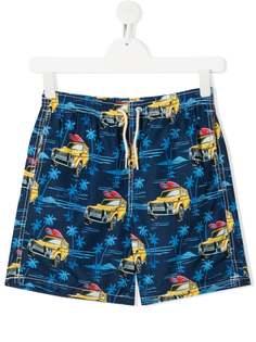 Mc2 Saint Barth Kids плавки-шорты с принтом