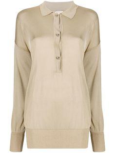LAutre Chose трикотажная рубашка-поло с длинными рукавами