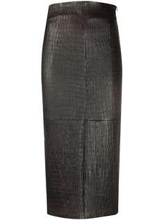 Brunello Cucinelli юбка-карандаш с тиснением под крокодила