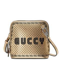 Gucci мини-сумка на плечо с принтом Guccy