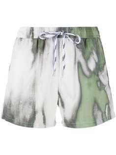 Nos Beachwear плавки-шорты с кулиской и принтом тай-дай