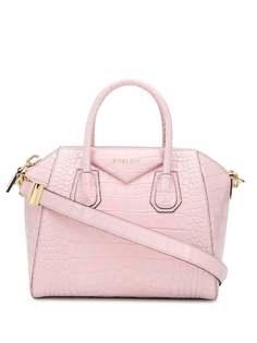 Givenchy маленькая сумка-тоут Antigona с тиснением под кожу крокодила