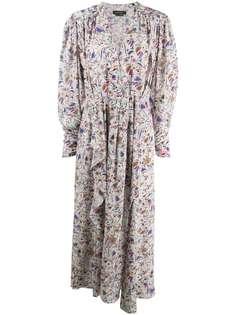 Isabel Marant платье с геометричным принтом и оборками