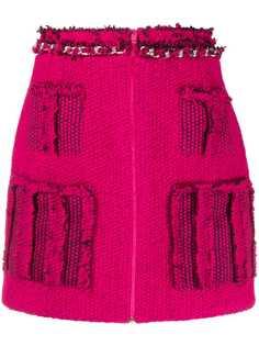 Loulou трикотажная юбка мини с бахромой