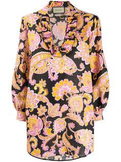 Gucci блузка свободного кроя с принтом пейсли
