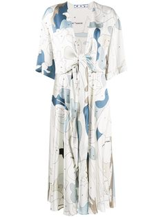 Off-White платье миди с графичным принтом