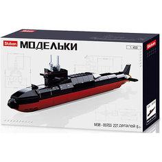 """Конструктор Sluban Флот """"Подводная лодка"""", 1:450, 227 деталей"""