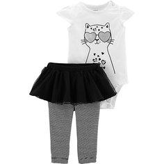 Комплект: боди и брюки carter's для девочки Carters