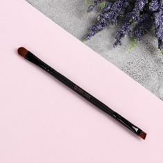 Кисть для макияжа, скошенная, двусторонняя, 13,5 см, цвет чёрный Queen Fair