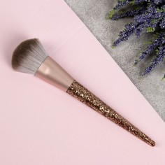 Кисть для макияжа, 16,7 см, цвет золотой Queen Fair