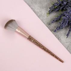 Кисть для макияжа, скошенная, 16,7 см, цвет золотой Queen Fair