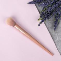 Кисть для макияжа, 19 см, цвет пудровый Queen Fair