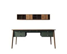 Рабочий стол andersen (etg-home) зеленый 180x75x75 см.