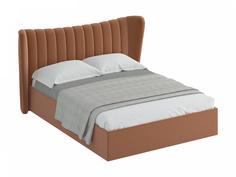 Кровать queen agata lux (ogogo) бежевый 203x112x225 см.