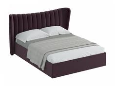 Кровать queen agata lux (ogogo) фиолетовый 203x112x225 см.