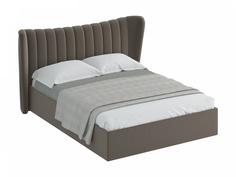 Кровать queen agata lux (ogogo) серый 203x112x225 см.