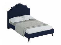 Кровать queen victoria (ogogo) синий 150x130x216 см.