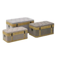 Банкетка-бокс, набор 3 шт tunceli (to4rooms) серый 80.0x48.0x40.0 см.