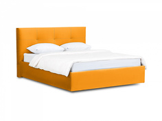 Кровать queen anna lux (ogogo) желтый 173x107x216 см.