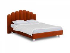 Кровать queen sharlotta (ogogo) оранжевый 180x122x217 см.