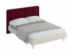 Кровать queen anna (ogogo) красный 173x107x216 см.