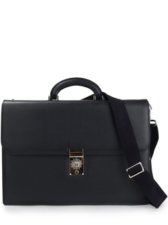 Кожаный портфель 322513/ Синий Moreschi