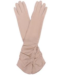 Длинные перчатки из замши Gianvito Rossi