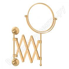 Косметическое зеркало 3sc двустороннее x2 матовое золото sti 320