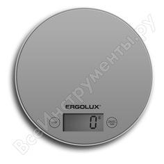 Кухонные весы ergolux elx-sk03-c03 серые металлик до 5 кг,185 мм круглые 13430