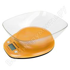 Кухонные весы ergolux elx-sk04-c11 оранжевые до 5 кг со съемной чашей 13606