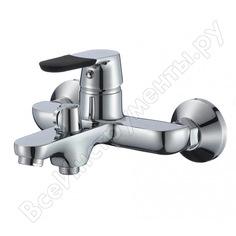 Смеситель для ванны ростовская мануфактура сантехники с коротким литым изливом sl123bl-009e