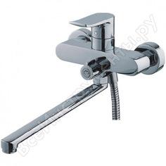Смеситель для ванны ledeme картридж д.35 мм длинный излив l30f дивертор в корпусе l2234 65681