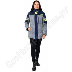 Зимняя женская куртка факел profline specialist, серый/т.синий, 56-58, 158-164 87468969.007