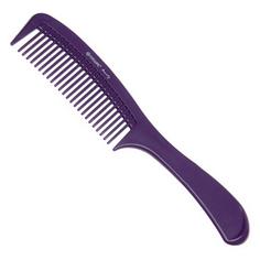 Dewal, Расческа с ручкой, фиолетовая, 22 см