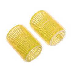 Dewal, Бигуди-липучки, желтые, 32х63 мм