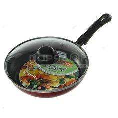 Сковорода с антипригарным покрытием Scovo Expert СЭ-027 с крышкой, 22 см