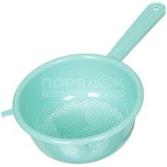 Дуршлаг пластиковый Idea М1130 аквамарин, 20 см