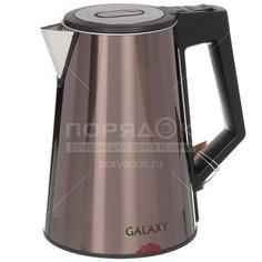 Чайник электрический металлический Galaxy GL 0320, 1.7 л, 2 кВт, бронзовый