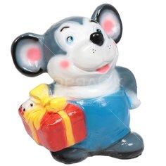 Копилка керамическая Мышонок с подарком 333