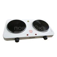 Плита электрическая двухконфорочная Аксинья КС-021 белая, 2 кВт